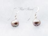 Enchanting Grey Baroque Pearl Earrings