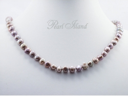 Enchanting Grey Baroque Pearl Necklace with Toggle Clasp