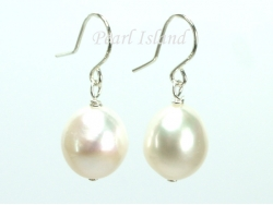 3 x Quality White Baroque Pearl Earrings 10-10.5mm
