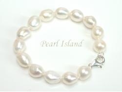 Large AA White Baroque Pearl Bracelet