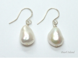 Enchanting White Baroque Pearl Earrings