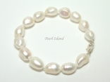 Enchanting White Baroque Pearl Bracelet