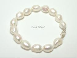 Enchanting White Baroque Pearl Bracelet