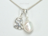 Enchanting White Baroque Pearl Pendant