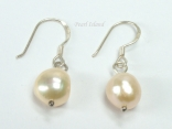 Enchanting Peach Baroque Pearl Earrings