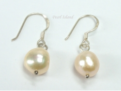 Enchanting Peach Baroque Pearl Earrings