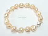 Enchanting Peach Baroque Pearl Bracelet