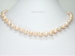 Enchanting Peach Baroque Pearl Necklace