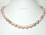 Enchanting Peach Lavender Baroque Pearl Necklace