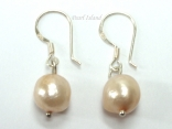 Enchanting Sandy Baroque Pearl Earrings