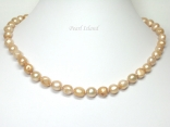 Enchanting Sandy Baroque Pearl Necklace