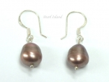Enchanting Chocolate Baroque Pearl Earrings