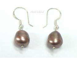 Enchanting Chocolate Baroque Pearl Earrings