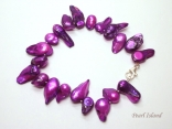 Vogue 1-Row Purple Blister Pearl Bracelet