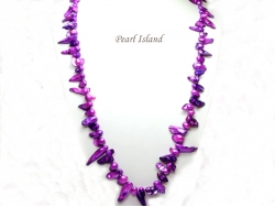 36 Inch Vogue 1-Row Purple Blister Pearl Necklace