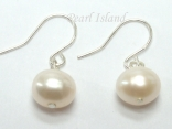 Prestige White Pearl Earrings with one pearl 8-8.5mm