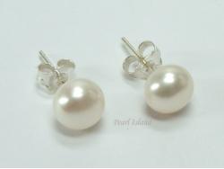 Prestige White Pearl Studs 6-7mm