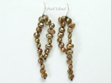 Miniature Brown Baroque Pearl Earrings