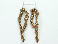 Miniature Brown Baroque Pearl Earrings