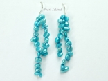 Miniature Turquoise Baroque Pearl Earrings