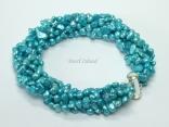 Miniature 6-Row Turquoise Baroque Pearl Bracelet