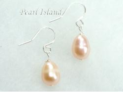 Petite Peach Oval Pearl Earrings 7-8mm