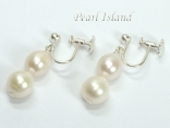 Pearl Clip on Earrings & Screw Earrings