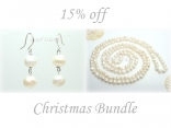 Ardent White Baroque Pearl Earrings Necklace Set