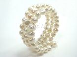 White Baroque Pearl Bracelet 8-9mm