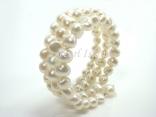 White Baroque Pearl Bracelet 8-9mm