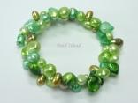 Ardent Green OB Baroque Pearl Bracelet 6-9mm