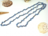 45 Inch Ardent Silver Blue Grey Baroque Pearl Rope Necklace