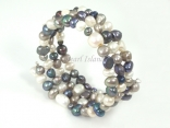 Ardent Grey White Baroque Pearl Bracelet