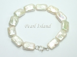 Enigma White Rectangle Pearl Bracelet