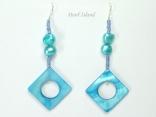 Joie de vivre Blue Pearl & Shell Earrings