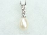 Chic White Drop Pearl Pendant 8x11mm