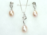 Pearl Pendant and Earring Set