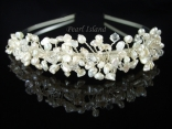 Princess Keshi Pearl Bridal Wedding Tiara