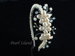Countessa Freshwater Pearl Side Wedding Tiara