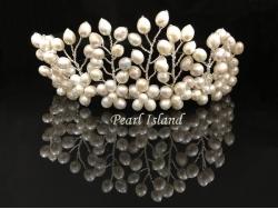 Pretty Princess Freshwater Pearl Wedding Tiara