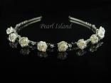Petite Ivory Freshwater Pearl in Bell Flower Wedding Tiara