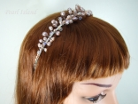 Lilac / Lavender Freshwater Pearl Tiara Style 1