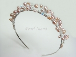 Lilac / Lavender Freshwater Pearl Tiara Style 2