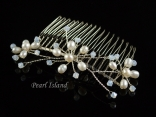 Stylish Freshwater Pearl Wedding Hair Comb (single)