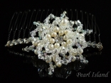 Countessa Freshwater Pearl Flower Wedding Hair Comb