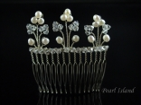 Elegance Freshwater Pearl Wedding Hair Comb