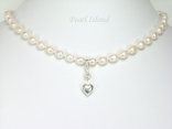 Little Princess White Oval Pearl Necklace 5x7mm
