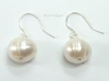 White Circlet Pearl Earrings 8.5-9mm
