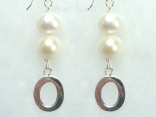 Personalised White Circlet Pearl Earrings