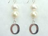 Personalised White Circlet Pearl Earrings